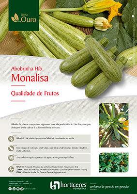 Folheto Abobrinha Híb. Monalisa