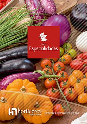 Capa do Catálogo Linha Especialidades